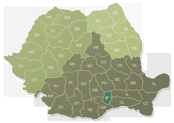 Harta Judete Rigk Romania